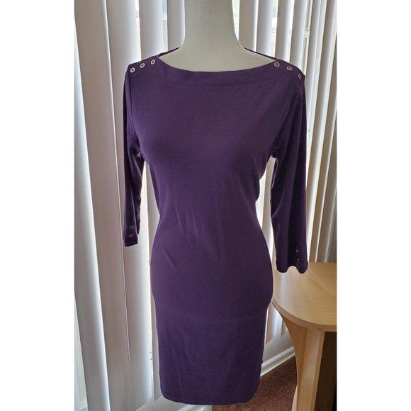 Karen Scott Dresses & Skirts - Karen Scott Sports, Lilac Dress Boat Neck